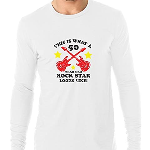 This Is What A 50 Year Old Rock Star Looks Like! Men's Long Sleeve T-Shirt