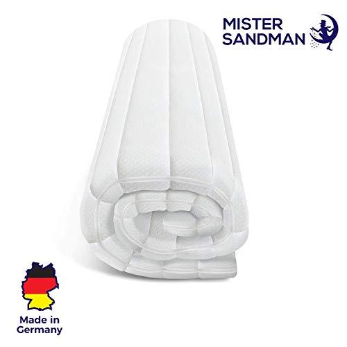 Mister Sandman weicher Matratzentopper aus Visco für mehr Schlafkomfort- atmungsaktive und e x tra-weiche Matratzenauflage mit Reißverschluss, 140 x 200 cm, Dicke 5 cm