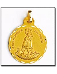 LIOR -Colgante -Medalla Virgen Caridad Del Cobre (Cuba) Oro de Ley 18k (750)