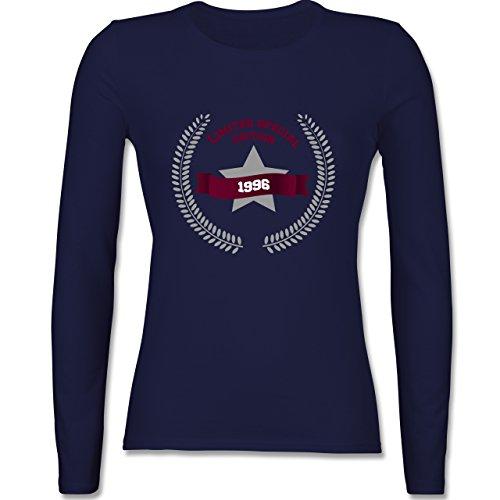 Geburtstag - 1996 Limited Special Edition - tailliertes Longsleeve / langärmeliges T-Shirt für Damen Navy Blau