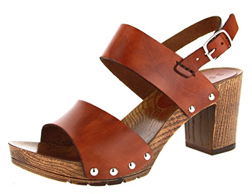 ESPRIT 046EK1W036 Damen Sandalette eleganter Boden, Größe 38.0