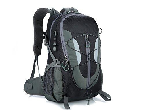 Lily S Locker–�?0L zaino da donna e da uomo Outdoor tasche con più spazio per l' escursione del campeggio Alpinismo viaggio scuola 29x50x18cm, Blau nero