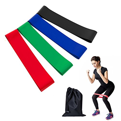 4er Widerstandsbänder Gymnastikbänder Set Resistance bands für Muskelaufbau Yoga und Therapie