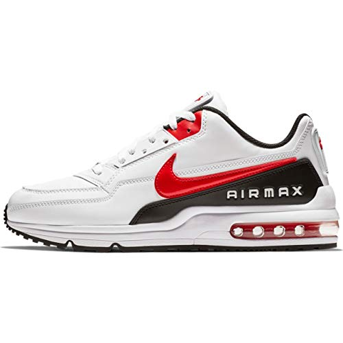 Nike Herren AIR MAX LTD 3 Traillaufschuhe, Mehrfarbig (White/University Red-Black 100), 44 EU