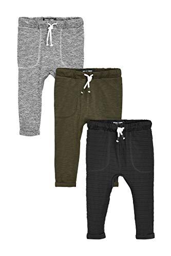 next Jungen Leichte Jogginghosen Im 3Er-Pack Khaki/Grau 3-4 Jahre (Herren Kleid Hose Slim Fit Wolle)