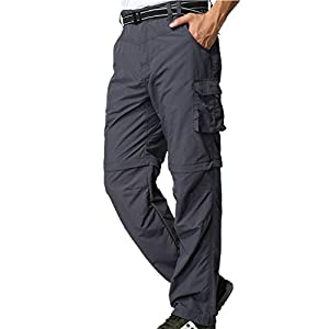 41UPGF4bT4L. SS300  - Jessie Kidden Men's Quick Dry Convertible Trousers,Outdoor Anytime Lightweight Hiking Fishing Zip Off Cargo Work Pant