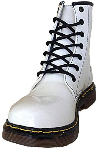 Foster Footwear - Stivali da Motociclista da ragazza' donna Coco:White Patent