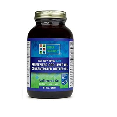 Green Pasture Blue Ice Royal Blend - Butter Oil and Cod Liver Oil - Non-Flavoured (240ml) from Green Pasture
