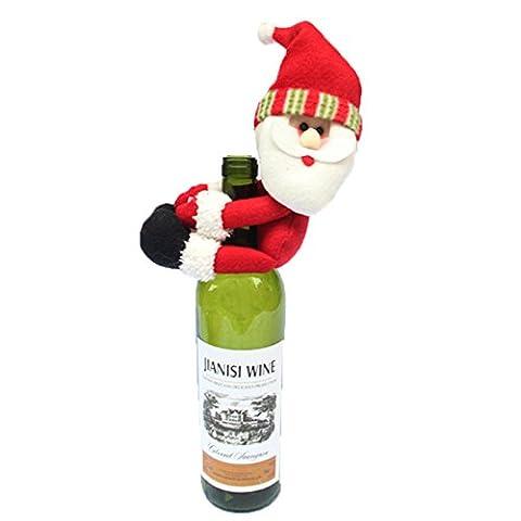 Rot Wein Flasche Cover Home Tisch Party Dekoration Cute Santa Claus Christmas Ornaments neu Jahren Supplies