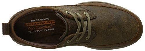 Skechers da uomo Harper Olney Lace-up Flats Marrone (BRN)