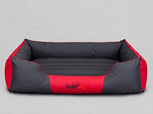 Hobbydog Cordura Comfort Letto per Cani, XL, Colore: Rosso/Grigio
