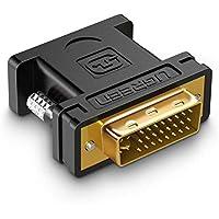 UGREEN DVI auf VGA Adapter DVI-I 24+5 Stecker zu VGA HD15 Buchse Konverter Digital auf Analog Adapter für Grafikkarten,Beamer,und Monitore TFT Crt, Monitoradapter digital auf anlalog Vergoldete Kontakte, Unterstützt für Gaming, DVD,Laptop,HDTV und Projektor FULL HD 1080p Adapter