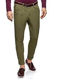 oodji Ultra Uomo Pantaloni Chino con Cintura