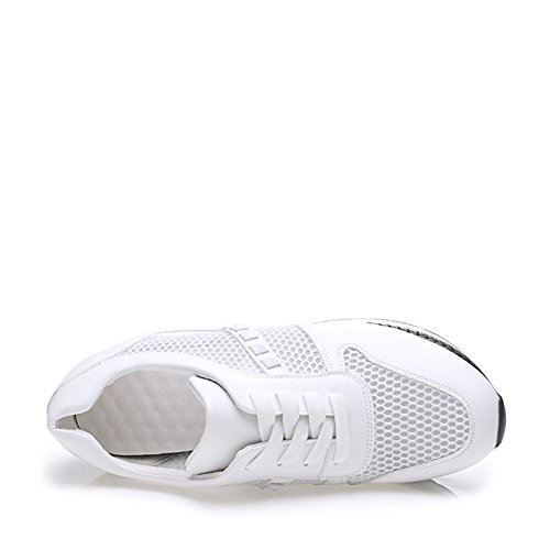 Chaussures de sport dames/ Plate-forme augmente peu chaussures blanc /Chaussures respirants coupes/Maille sport chaussures A