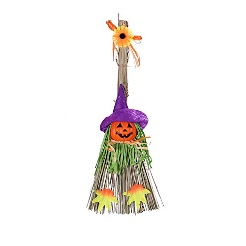 Cnight Halloween Dekorationen Kürbis Besen Hexe Besen Geist Festival Schule Zauberer Tanz Party Leistung Requisiten