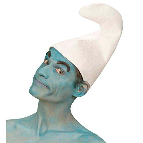 Zwergenmütze Schlumpf Mütze Fasching Zwergen Hut Kopfbedeckung Schlümpfe Zwerg Faschingsmütze Wichtel Mottoparty Accessoire Karneval Kostüm Zubehör (Schlumpf Kostüme Zubehör)
