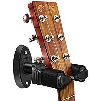 NEUMA Soporte de guitarra para montaje en pared, soporte de gancho de exhibición de bloqueo automático Soporte de guitarra para guitarras/bajos/banjo/mandolina