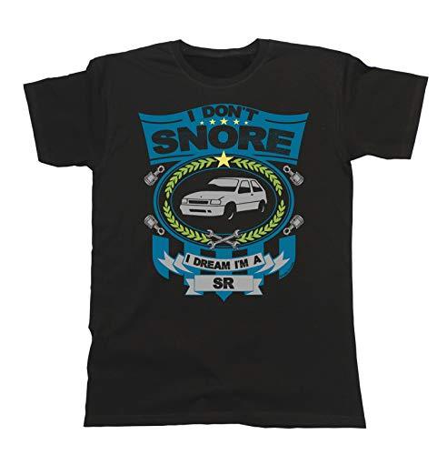 Mens Retro Car T-Shirt -  I Don't Snore I Dream I'm A SR Vauxhall Nova