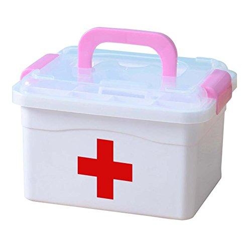 Black Temptation Kreative Mehrzweck-Medizin-Box Lovely Medicine Chest, Pink Griff - Ds Medikament