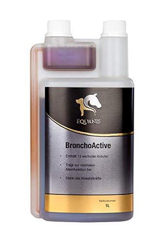 Equanis BronchoActive - 13 flüssige Heilkräuter zur Unterstützen des Immunsystems Ihres Pferdes. -