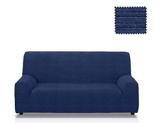 Elastische Sofa-Husse Moraig Größe 3 Sitzer (Von 170 bis 210 cm), Farbe Blau (Mehrere Farben verfügbar) (Blaue Hussen Für Couch)