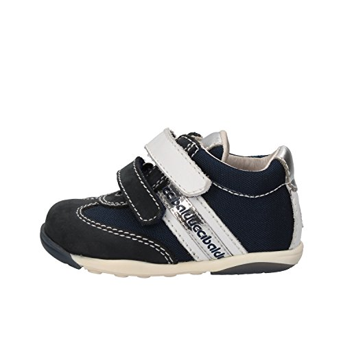 BALDUCCI sneakers bambino blu bianco tessuto pelle AG930 (17 EU)