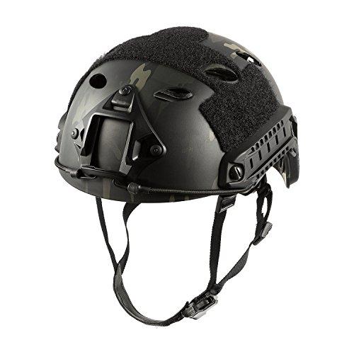 OneTigris PJ Mode Leichtbau Taktische Schnelle Helm für Airsoft Paintball (Schwarzer - Airsoft Camo Helm
