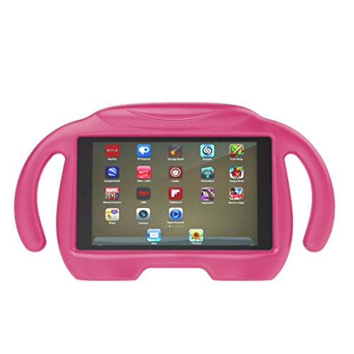 Tablet-Griff-Standplatz-Fall-Abdeckung, Chshe TM, Kinder-Eva-Griff-Standplatz-Fall-Abdeckung FüR Amazon Kindle Fire Hd 7 2015/2017(Rosa) (Kindle Fire 7, Kid-fall Hd)