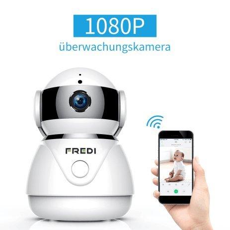 sicher zu Hause ip Kamera WLAN Cloud Kamera Haustier Sicherheitskamera Überwachungskamera IP Cam Kabellos P2P Schwenkbar Bewegungsmelder 2 Weg Audio IR Nachtsicht für Baby Überwachung