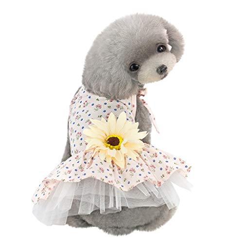 EUZeo Schöne Hund Katze Haustierbekleidung Hündchen Kätzchen Boho Muster Hundebekleidung Kätzchen Partykleider Kleiner Hund Kleine Katze Blusekleider Pullover Dress Mini Kleider Blumenmuster
