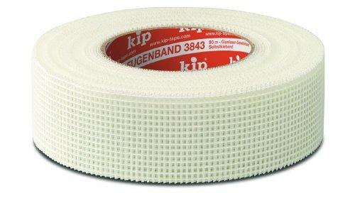 1 Paket (24 Rollen) kip Fugenbänder 3843-00 weiß 90 m x 48 mm