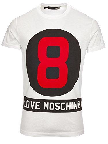 LOVE MOSCHINO M 4 677 09 M 3540 T-SHIRT MANICHE CORTE Harren Weiß