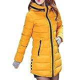 uirend Sport Freizeit Camping Outdoor Bekleidung Damen Jacken Daunenjacken - Mit Kapuze Ultraleicht Packbar Lang Zip Baumwolle Warm Handschuhe Winter Mantel