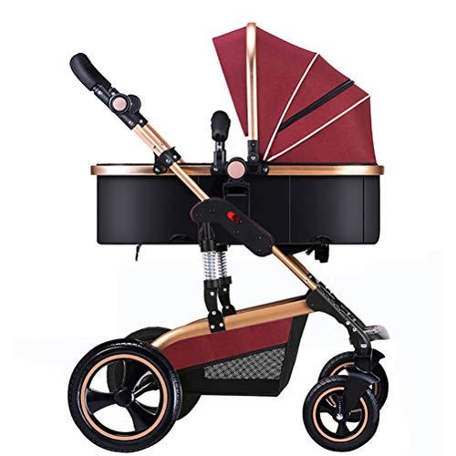 ZXYSR Passeggino Compatto Leggero, Passeggino Viaggio, Passeggini Pieghevoli per Bambini, Pieghevole con Una Mano, da 0 Mesi Fino A 15 kg, Rosso