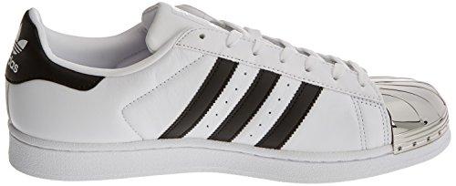 adidas Superstar Metal Toe, Formatori Bassi Donna Bianco (Footwear White/core Black/silver Metallic)