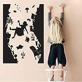 Alice im Wunderland WANDAUFKLEBER Art Vinyl Home Decor Fallen das Kaninchen Loch Wandtattoo DIY abnehmbare Cartoon Kinderzimmer 40x58 cm