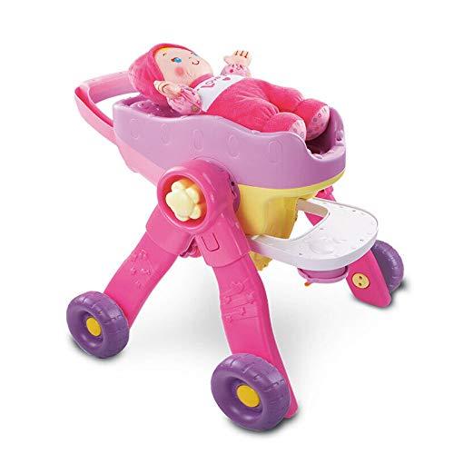 lquide Rosa Kinderwagen Baby Walker Kind Kinderwagen Pädagogisches Spielzeug (Puppe)