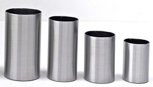 G-pro line italienne corbeille à papiers pieno 1.4016 design en acier inoxydable brossé, dimensions : 30 x 55 graepel 38 litres