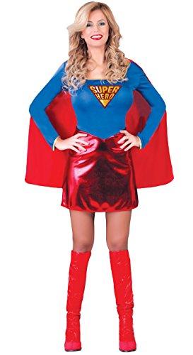 (Super Hero - Kostüm für Damen Gr. S-L, Größe:L)