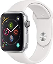 Apple Watch Series 4-44mm Space Silver Aluminum Case with White Sport Band, GPS + Cellular, watchOS 5