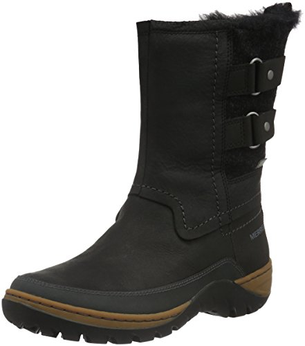 Merrell Women Sylva Mid Buckle Waterproof Snow Boots, Black (Black), 7 UK...