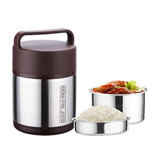 1.6l contenitore thermos per alimenti doppio acciaio inossidabile ermetico isolato termico con il cucchiaio pieghevole(solid color)