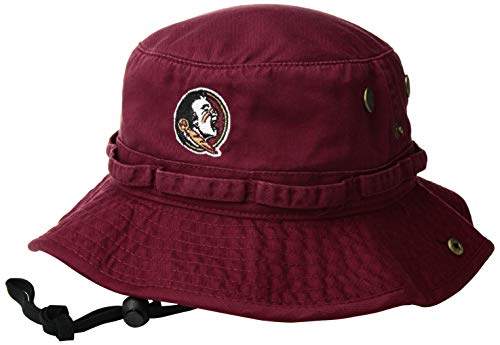 Top of the World NCAA Herren Bucket Hat Verstellbare Mannschaftssymbole, Herren, NCAA Men's Bucket Boonie Hat Team, Florida State Seminoles Garnet, Einstellbar (Seminoles Hat Florida State)
