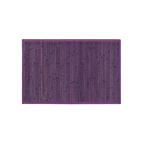 Alfombra de madera de Bambú de color Violeta