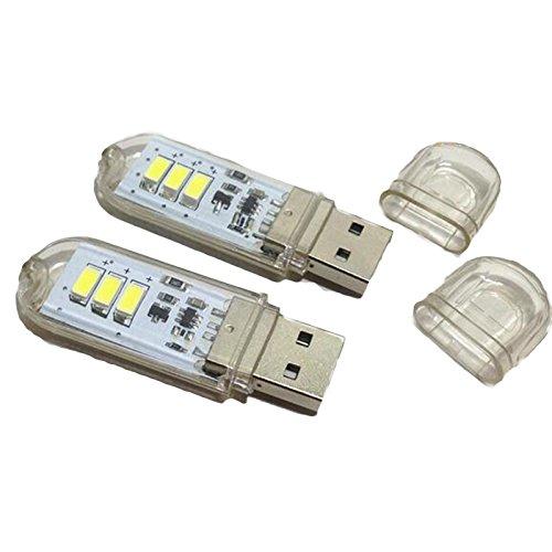 2x5V Nachtlicht Lampe mit Touch Schalter, Sensor USB Computer Schreibtisch-Lampe