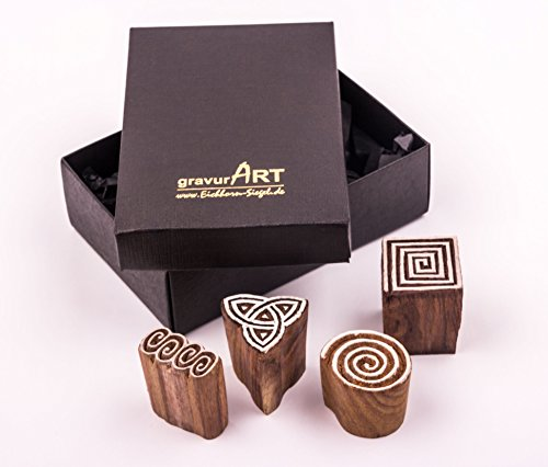 gravurart-4-holz-stempel-wschestempel-handgeschnitzt-ketische-motive-set-2-fr-textildruck