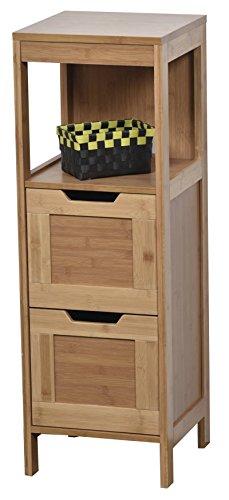 Tendance–Mahe bambú puerta armario y 2cajones dm Plus 1estante, madera, blanco/roble