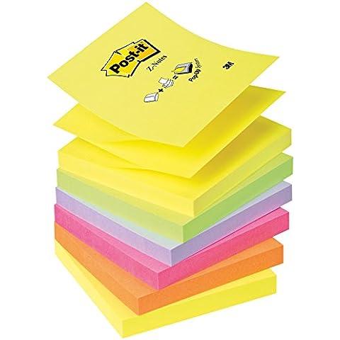 Post-It R330-NR - Pack de 6 blocs de notas autoadhesivas (76 x 76 mm, 100 hojas), colores surtidos