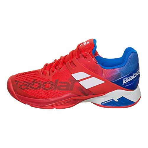 Babolat Hommes Propulse Fury All Court Chaussures De Tennis Chaussure Tout Terrain Rouge - Bleu 40