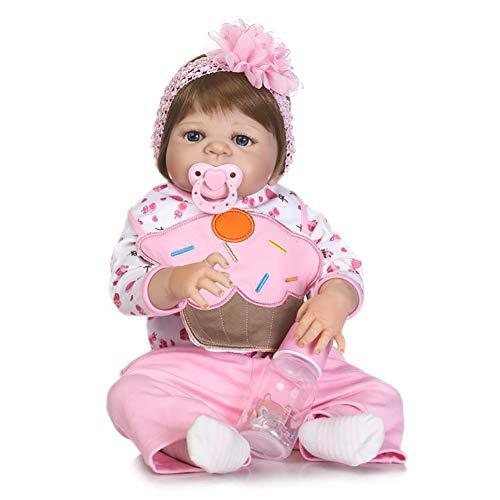 Cute Realista Bebé Muñecas Suave Silicona Reborn Bebé Muñeca Negro Niños Juegan Muñeca Coleccionable Juguete 57CM,57CM